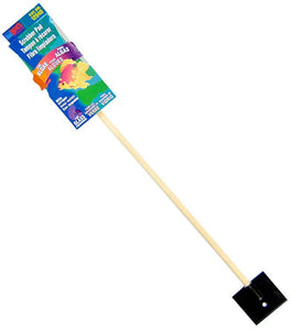 "Lees Scrubber with Scraper - Glass 15"" Long Stick with Scrubber & Scraper - All Pets Store"