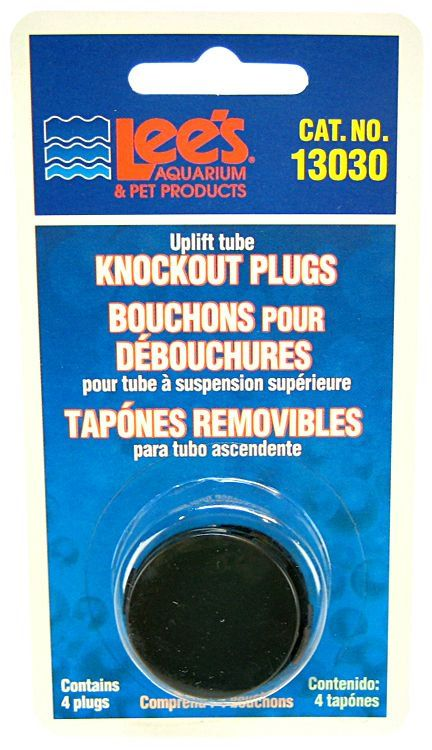 Lees Undergravel Knockout Plugs 4 Pack - All Pets Store