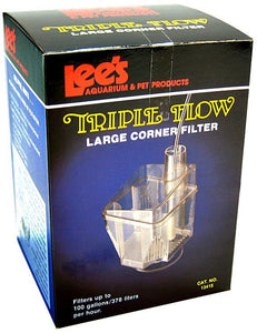 "Lees Triple Flow Corner Filter Large - 4""L x 4""W x 6""H (100 GPH) - All Pets Store"