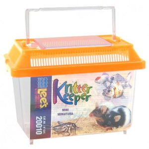 "Lees Kritter Keeper with Lid Mini - 7.13""L x 4.38""W x 5.5""H - All Pets Store"
