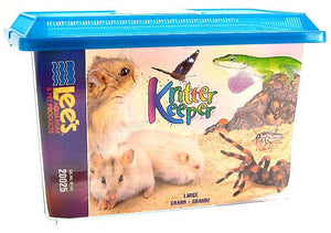 "Lees Kritter Keeper with Lid Large - 14.5""L x 8.75""W x 9.75""H - All Pets Store"