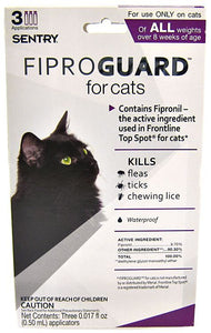 Sentry FiproGuard for Cats 3 Doses - All Pets Store