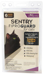 Sentry FiproGuard for Cats 6 Doses - All Pets Store
