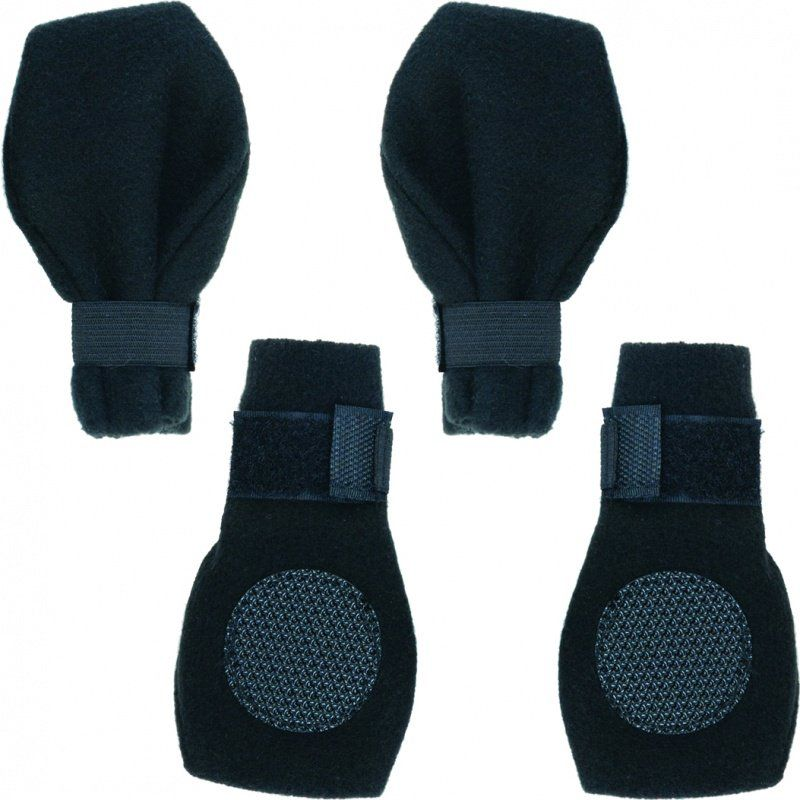 "Fahion Pet Arctic Fleece Dog Boots - Black Large (3.75"" Paw)"