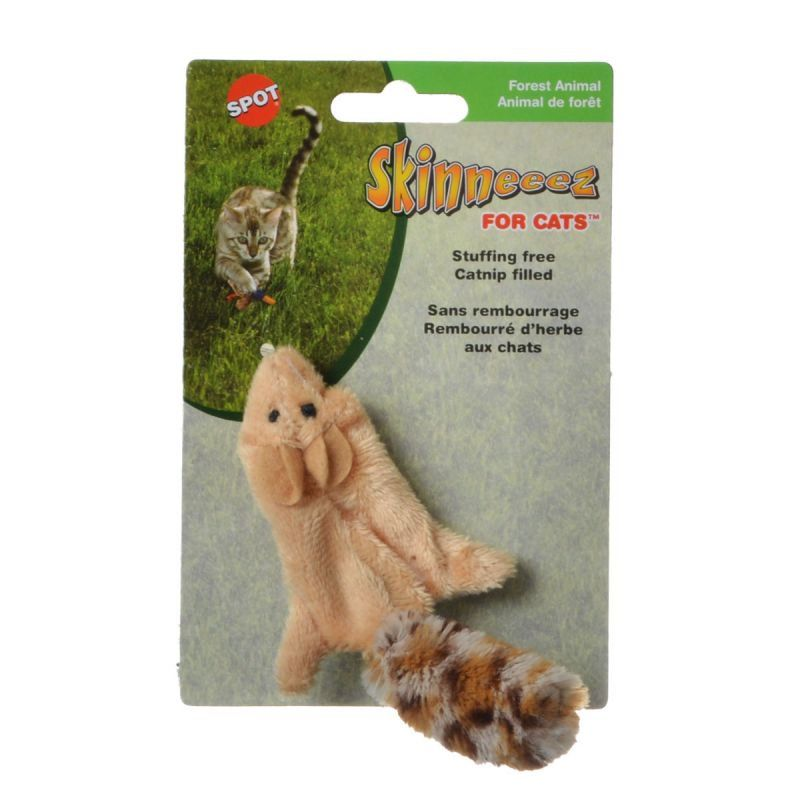 Spot Skinneeez Squirrel Cat Toy Squirrel Cat Toy - All Pets Store
