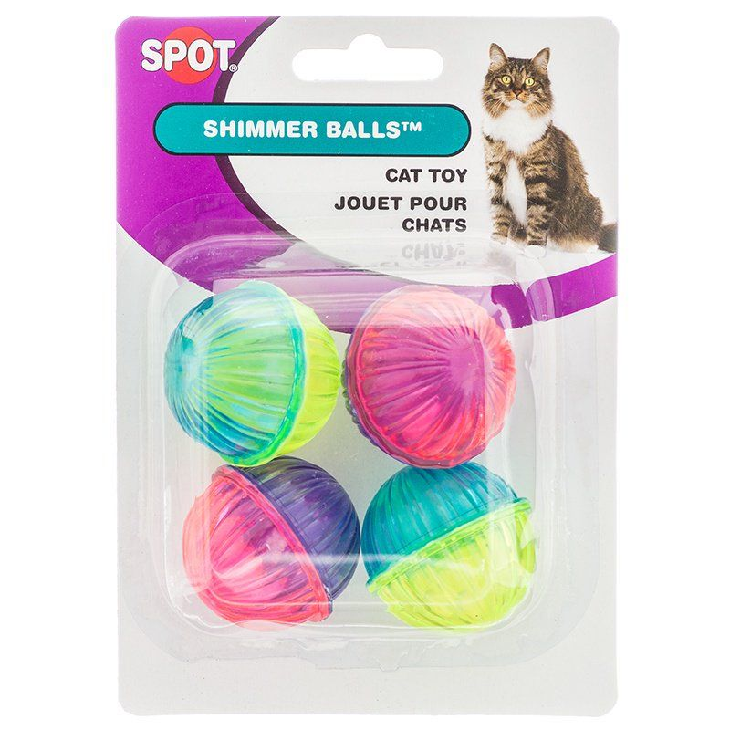 Spot Shimmer Balls Cat Toys 4 Pack - All Pets Store