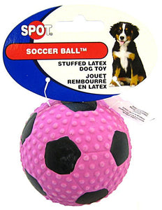 "Spot Socer Ball Stuffed Latex Dog Toy 3.1"" Diameter - All Pets Store"