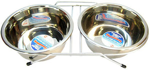 "Spot Stainless Steel Double Diner 64 oz (8.5"" Diameter) - All Pets Store"