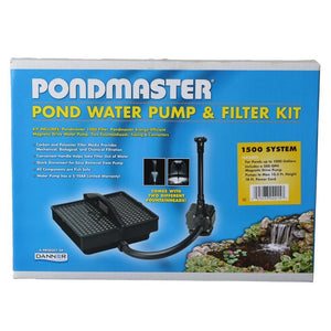 Pondmaster Garden Pond Filter System Kit Model 1500 - 500 GPH (Up to 1,000 Gallons) - All Pets Store