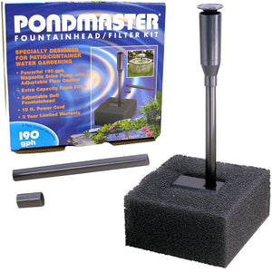 Pondmaster Fountain Head & Filter Kit 190 GPH - All Pets Store