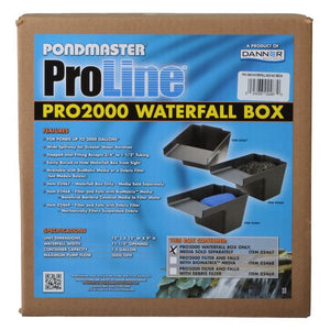 "Pondmaster Pro Series Pond Biological Filter & Waterfall Pro 2000 - (15""L x 12""W x 11.25""H) - All Pets Store"