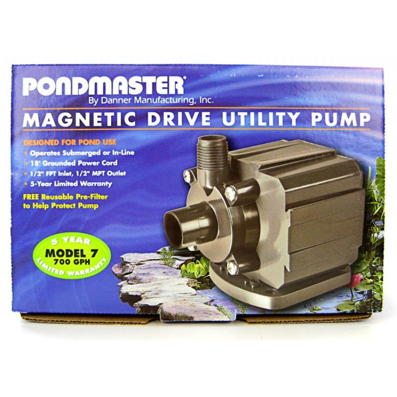 Pondmaster Pond-Mag Magnetic Drive Utility Pond Pump Model 7 (700 GPH) - All Pets Store
