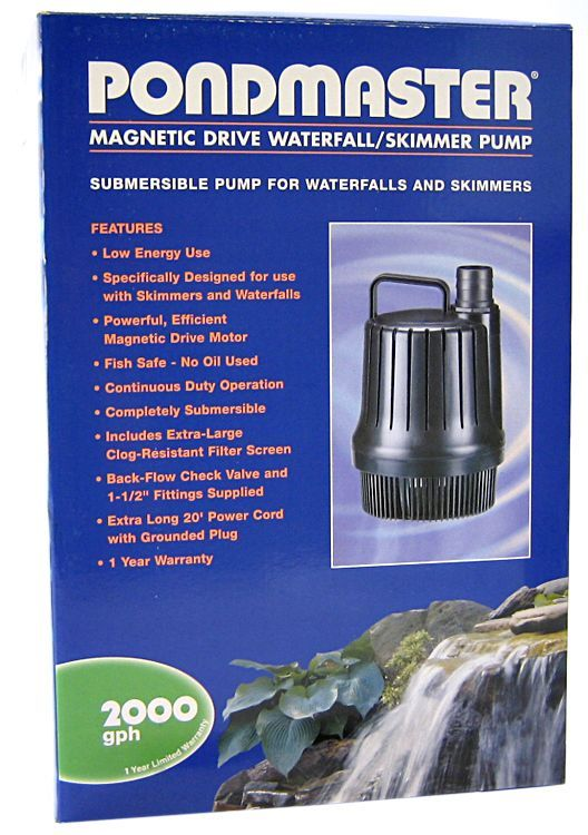 Pondmaster Magnetic Drive Waterfall Pump 2,000 GPH - All Pets Store