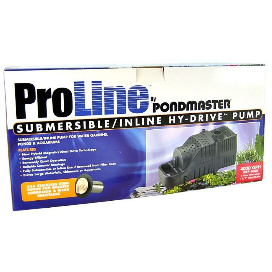 Pondmaster ProLine Submersible/Inline Hy-Drive Pump 4,000 GPH with 20' Cord - All Pets Store