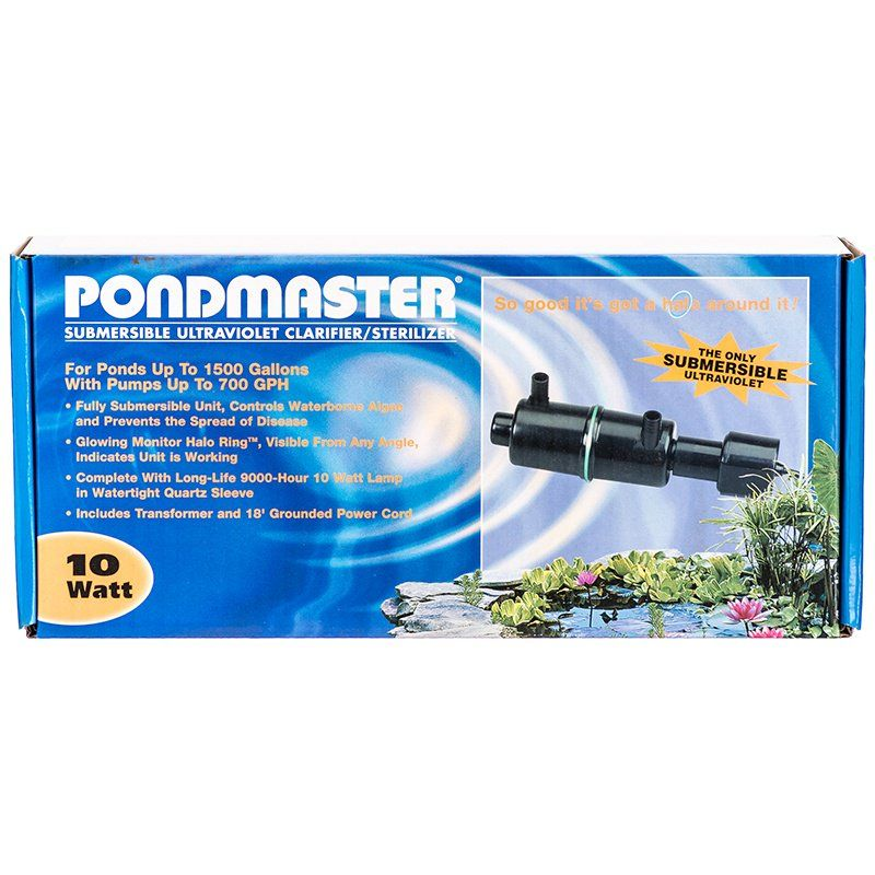 Pondmaster Submersible Ultraviolet Clarifier & Sterilizer 10 Watts - 700 GPH (1,500 Gallons - .75