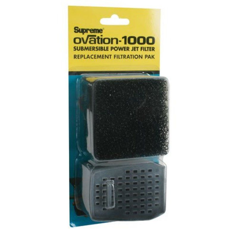 Supreme Ovation Submersible Power Jet Filter Replacement Filtration Pack Ovation 1000 - All Pets Store