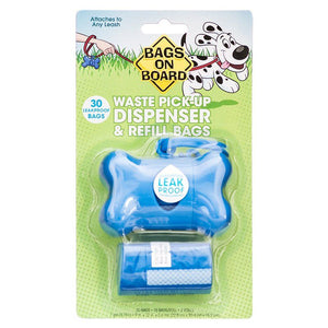 Bags on Board Bone Shaped Pick up Bag Dispenser - Blue 1 Count - All Pets Store