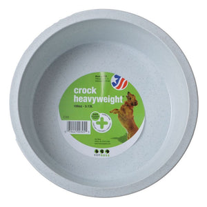 "Van Ness Crock Heavyweight Dish Jumbo - 10.25"" Diameter (106 oz) - All Pets Store"