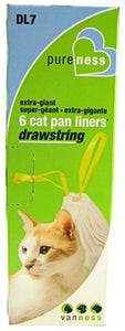 Van Ness Drawstring Cat Pan Liners X-Giant (6 Pack) - All Pets Store