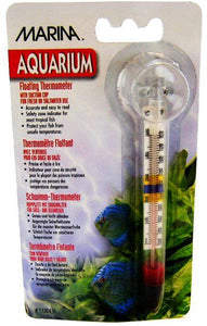 Marina Floating Thermometer with Suction Cup Large Thermometer with Suction Cup - All Pets Store