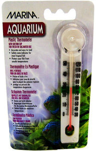 Marina Plastic Thermometer with Suction Cup Plastic Thermometer with Suction Cup - All Pets Store