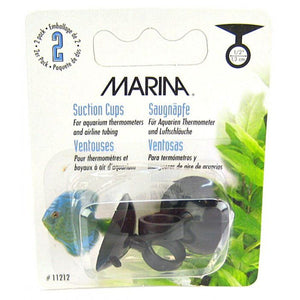 Marina Thermometer Suction Cups - Black Thermometer Suction Cups (2 Pack) - All Pets Store