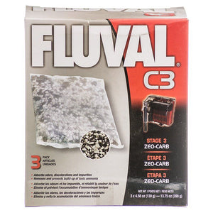 Fluval Zeo-Carb Filter Bags For C3 Power Filter (3 Pack) - All Pets Store