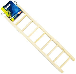 "Living World Wood Ladders for Bird Cages 15"" High - 9 Step Ladder - All Pets Store"
