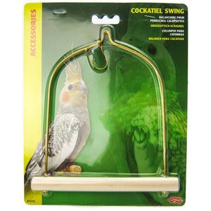 "Living World Cockatiel Wood Swing 5.5"" Long x 7"" High - All Pets Store"