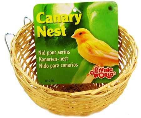 "Living World Wicker Canary Nest 4"" Long x 2"" Wide"