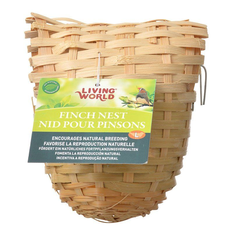 "Living World Bamboo Finch Nest Large (6"" Long x 5"" Wide)"
