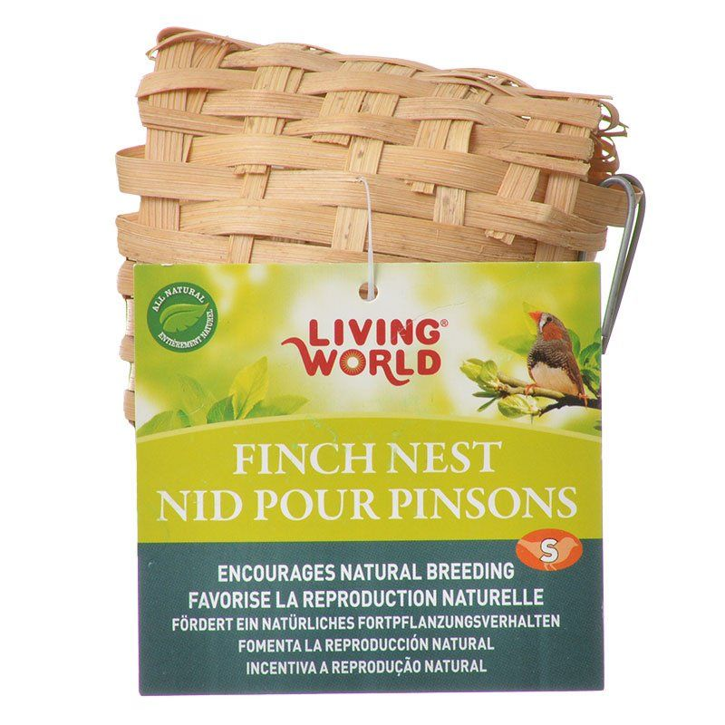"Living World Bamboo Finch Nest Small (3-7/8"" Long x 3-7/8"" Wide)"