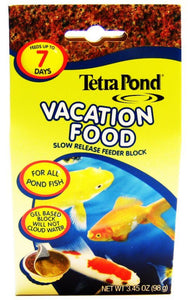 Tetra Pond Vacation Food - Slow Release Feeder Block 3.45 oz - All Pets Store
