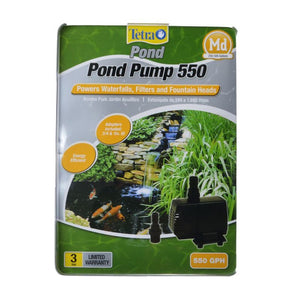 TetraPond Pond Pump 550 GPH (For Ponds 250-500 Gallons) - All Pets Store