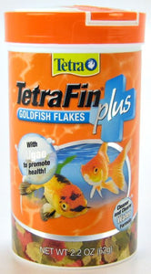 Tetra TetraFin Plus Goldfish Flakes Fish Food 2.2 oz - All Pets Store