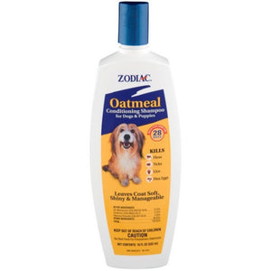 Zodiac Oatmeal Conditioning Shampoo for Dogs & Puppies 18 oz - All Pets Store
