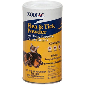 Zodiac Flea & Tick Powder for Dogs, Puppies, Cats & Kittens 5 oz - All Pets Store