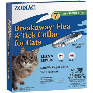 Zodiac Breakaway Flea & Tick Collar for Cats 7 Month Supply - All Pets Store