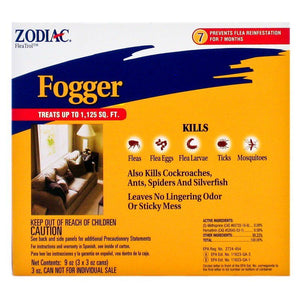 Zodiac Flea & Tick Fogger 3 oz Cans (3 Pack) - All Pets Store
