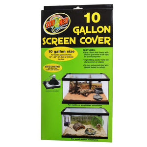 "Zoo Med Animal Habitat 10 Gallon Screen Cover 20"" Long x 10"" Wide - All Pets Store"