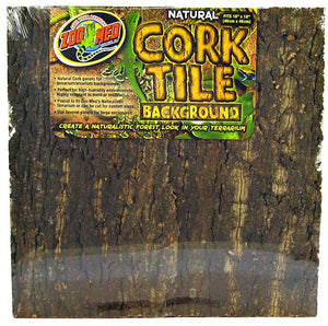 "Zoo Med Natural Cork Tile Terrarium Background Large (18""Long x 18"" Wide) - All Pets Store"