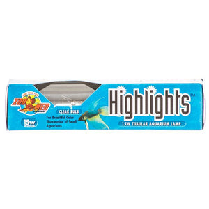 Zoo Med Highlights Aquarium Lamp - Clear 15 Watts - All Pets Store