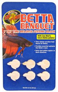 Zoo Med Aquatic Betta Banquet - 7 Day Betta Feeder .3 oz (6 Pack) - All Pets Store
