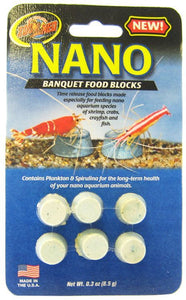Zoo Med Nano Banquet Food Blocks .3 oz (6 Pack) - All Pets Store