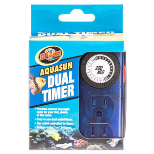 Zoo Med Aquatic AquaSun Dual Timer - Day & Night 2 Outlet Day & Night Timer - All Pets Store