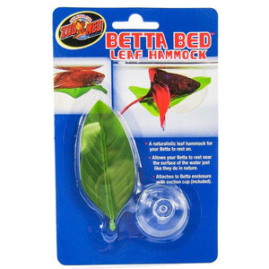 "Zoo Med Aquatic Betta Bed Leaf Hammock Standard - 1 Count - (3.5"" Long) - All Pets Store"