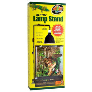 "Zoo Med Reptile Lamp Stand 36"" Max Height  - 15"" Max Horizontal Arm Length - All Pets Store"