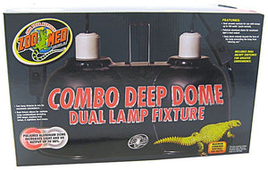 Zoo Med Combo Deep Dome Dual Lamp Fixture Up to 300 Watts Combined - All Pets Store