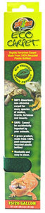 "Zoo Med Eco Carpet Reptile Carpet - Green 15-20 Gallon (12"" x 24"") - All Pets Store"