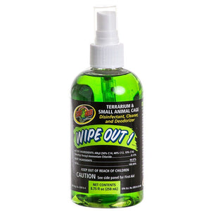 Zoo Med Wipe Out 1 - Small Animal & Reptile Terrarium Cleaner 8.75 oz - All Pets Store